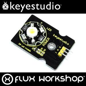 3pcs Keyestudio 3W Warm White LED Module KS0010 3000K Arduino Pi Flux Workshop
