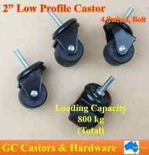 """2"""" Low Profile Heavy Duty Castor Wheel, 800 kg Loading Capacity per Set, Bolt"""