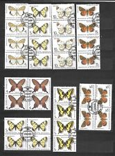 FARFALLE PAPILLONS BUTTERFLY  8 quartine lot lotto