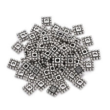 500x Tibetan Alloy Square Metal Beads Decorative Loose Spacer Antique Silver 7mm