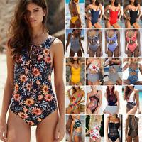 Women Monokini One-piece Swimsuit Bikini Flounce Swimwear Beachwear Bathing Suit