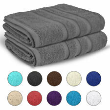 BATH SHEET TOWELS 100% Egyptian Cotton 2 Pack Extra Large Soft Towel 550 GSM
