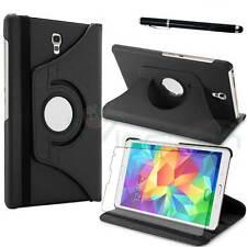 Pellicola+Pennino+Custodia NERA Rotante per Samsung Galaxy Tab S 8.4 T700 T705
