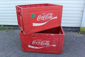 Vintage Coca-Cola Deposit Charged National Bottle Crate Storage Box Pub Mancave