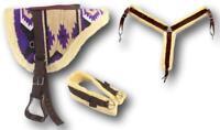 D.A. Brand Purple Navajo Bareback Pad w/ Girth/ Breast Collar Full Horse Tack
