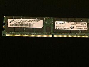 New Crucial / Micron MT36VDDF25672Y-335F3 PC2700R-25331-Z 2GB