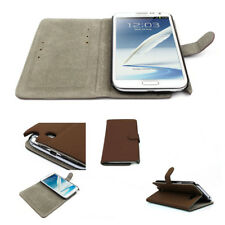 NEW WALLET CASE COVER STAND MAGNETIC PU LEATHER BROWN SAMSUNG GALAXY NOTE II 2