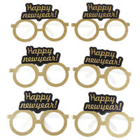 Happy New Year 2020 paper glasses Photo Booth Frame Props Eve Party Decoratio I1