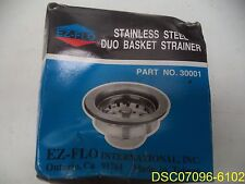 Qty = 2: Ez-Flo 30001 Sink Strainer, Stainless Steel