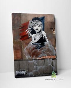 BANKSY French Embassy Graffiti Canvas Art Wall Art Print Picture Canvas --C816