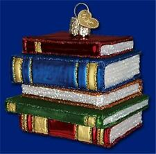 Stack Of Books Old World Christmas School Graduation Teacher Ornament Nwt 32112