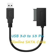 USB 3.0 to 7+6 13Pin Slimline SATA Cable Adapter for Laptop DVD/CD-ROM HDD Drive