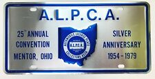 Ohio License Plate 1979 ALPCA Special Tag Collector Garage Man Cave Gift Silver