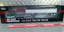 DCP 1/64 ROVEN FARMS INTL 9100i DAYCAB & WILSON WHITE BLACK TARP GRAIN TRAILER