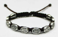 St Michael the Archangel the and Guardian Angel bracelet Black Cord St Michael