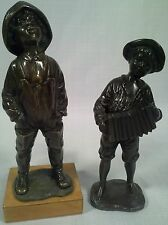 Antique Pair Of Street Urchin Bronze Figures Circa 1900