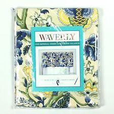 "Waverly Imperial Dress Porcelain Jacqueline Window Valance 52"" X 18"" NEW"
