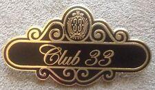 Disney CLUB 33 NAMETAG Disneyland 50th MEMBER Event Retired Logo DISNEY PIN