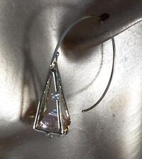 ALEXIS BITTAR PINK TOPAZ CRYSTAL & AND SWAROVSKI CRYSTAL EARRINGS, NWOT($249)