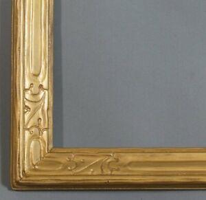 "LARGE HANDMADE NEWCOMB MACKLIN STYLE GOLD FRAME, 44"" x 33 3/4"""