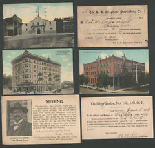 Great Lot of 48 Postal History Items 1902-15 Clinton Iowa Odd Fellows Lodge O1