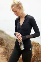 Free People Activewear Seamless Long Sleeve Mock Neck Half-Zip Pullover Top $58