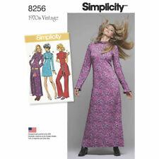 SIMPLICITY Sewing Patterns~8256 Misses Ladies VINTAGE Retro Top+Dresses 6-14