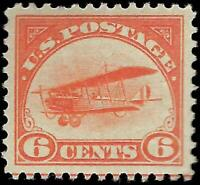 VEGAS - 1918 6c Jenny Airmail - Sc# C1 - Mint, Disturbed OG - VF-XF! -  ES1