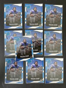 10 Card Lot - Dalvin Cook Rookie Card 2017 Panini Donruss Rated Rookie #343