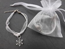 Snowflake Frozen bracelet, girls birthday party bag filler in gift bag prefilled