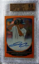 2013 Bowman Chrome Jonathon Crawford Orange Refractor Auto #11/25 BGS 9.5