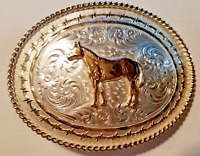 Western Rodeo Bull Rider German Silver Belt Buckles