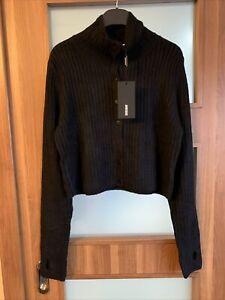 Weekday Kati Cardigan Black BNWT Size L