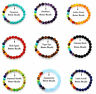 7 Chakra Healing Balance Beaded Bracelet Natural Stone Yoga Reiki Prayer Pick