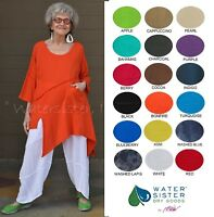 WATERSISTER Cotton Gauze  HOLLY  Tunic Asymm Top 1(S/M) 2(M/L) 3(XL) 2018 COLORS