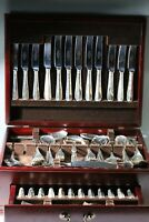 Fabulous Vintage Sheffield Silver Plate Canteen Of Cutlery. 12 Settings. 125pc