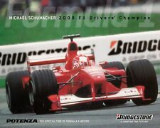 7 TIME FORMULA 1 CHAMPION MICHAEL SCHUMACHER PHOTO CARD- BRIDGESTONE TIRES