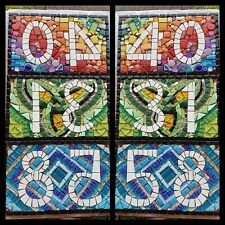 Mosaic House number plaques (Three digits)