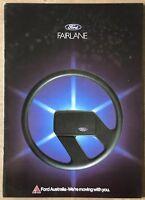1982 Ford Fairlane original Australian sales brochure