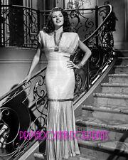 "RITA HAYWORTH 8X10 Lab Photo B&W 1946 ""GILDA"" Sexy First Gown of Film Portrait"