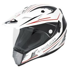 Cross Enduro Motorrad Helm Held Alcatar Gr. M weiß rot inkl. Sonneblende NEU
