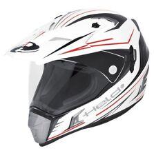 Cross Enduro Casque De Moto Held Alcatar M blanc rouge incl. Pare-soleil NEU