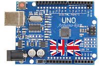 UNO R3 Arduino Compatible MEGA328P ATMEGA16U2 Board Unsoldered Kit + USB Cable