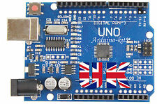UNO R3 Arduino Compatible MEGA328P ATMEGA16U2 Board Unsoldered Kit + USB Cable