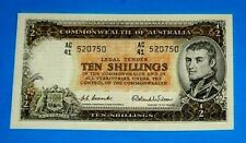 10 Shilling Note Commonwealth of Australia 1954 Uncirculated