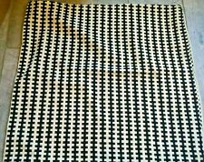 "Ikea Stockholm Pillow Cover Black Ivory Velour 22"" x 22"" Abstract Houndstooth"
