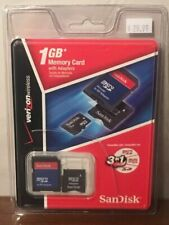 1 GB Memory Card with Adapters SanDisk 3 in 1 NEW SDSDQ-1024-V10MK