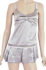 FASHIONBABE SZ 12 WOMENS Lilac Sheen Box Pleated Sleeveless Short Mini Dress