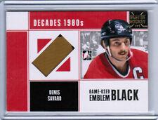 2015 LEAF BEST OF HOCKEY DENIS SAVARD 10/11 DECADES 1980s EMBLEM 1/1 BLACKHAWKS