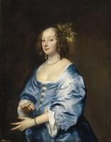 Anthony Van Dyck Mary Ruthven Lady Van Dyck Giclee Canvas Print Poster